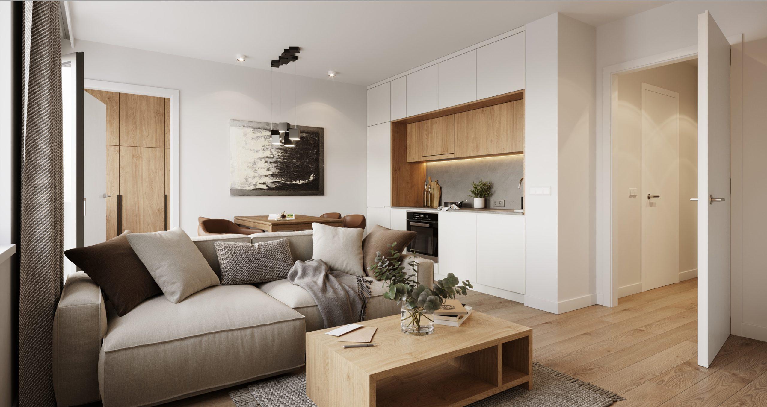3D Darstellung Wohnzimmer